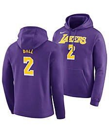 Men's Lonzo Ball Los Angeles Lakers Icon Player Name & Number Essential Hoodie