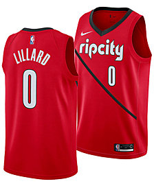 Nike Damian Lillard Portland Trail Blazers Earned Edition Swingman Jersey, Big Boys (8-20)