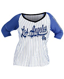 5th & Ocean Women's Plus Los Angeles Dodgers Raglan T-Shirt