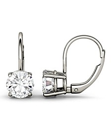 Moissanite Leverback Earrings (2 ct. t.w. Diamond Equivalent) in 14k White or Yellow Gold