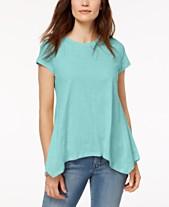 ad6fc2cac801c Style   Co Handkerchief-Hem T-Shirt