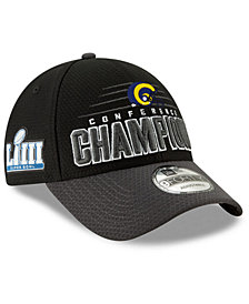 New Era Los Angeles Rams Conference Champ Locker Room 9FORTY Snapback Cap