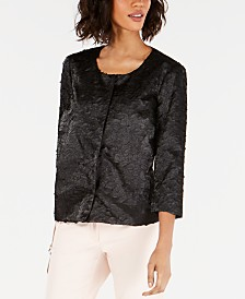 Alfani Textured Novelty Jacket, Created for Macy's