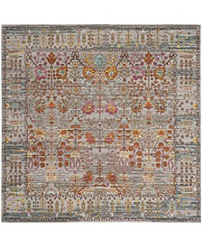 "Valencia Gray and Multi 6'7"" x 6'7"" Square Area Rug"