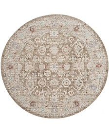 Safavieh Windsor Brown and Ivory 6' x 6' Round Area Rug