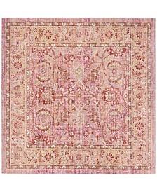 Safavieh Windsor Pink and Orange 6' x 6' Square Area Rug