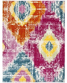 Safavieh Watercolor Fuchsia and Orange 8' x 10' Area Rug