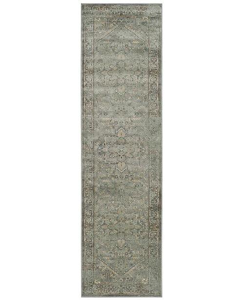 "Safavieh Vintage Grey and Multi 2'2"" x 8' Runner Area Rug"