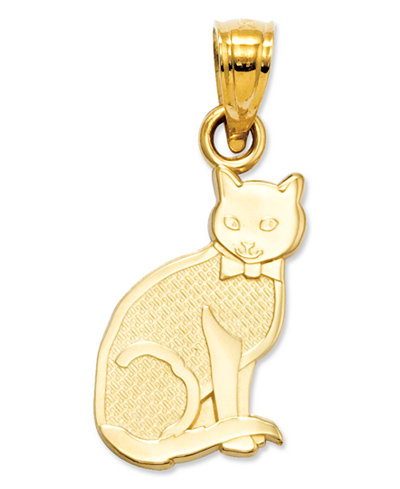 14k Gold Charm, I Heart My Cat Charm