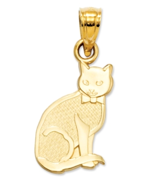 14k Gold Charm, I Heart My Cat Charm