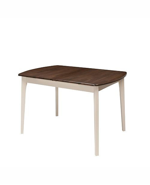 """Corliving Distribution CorLiving Extendable Oblong Dining Table with 12"""" Butterfly Leaf"""