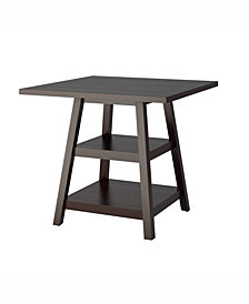 CorLiving Counter Height Dining Table with Shelves