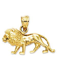 14k Gold Charm, Lion Charm