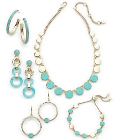 DKNY Gold-Tone Imitation Turquoise Collection