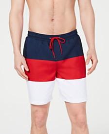 "Club Room Men's Colorblocked 7"" Swim Trunks, Created for Macy's"