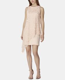 Tahari ASL 3D Floral-Overlay Sheath Dress
