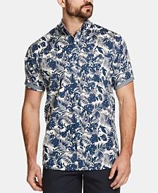 Weatherproof Vintage Men's Floral Leaf Printed Shirt