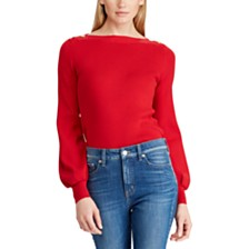 Lauren Ralph Lauren Bishop-Sleeve Sweater