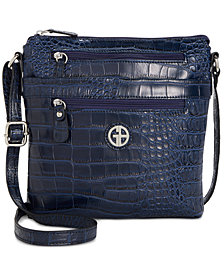 Giani Bernini Faux Crocodile Crossbody, Created for Macy's