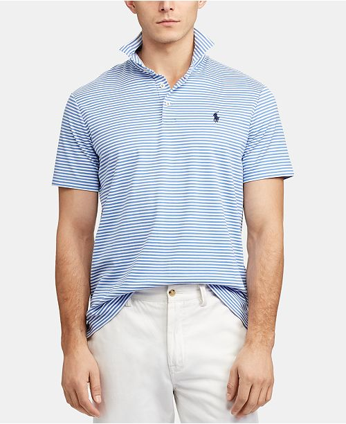 Men's Soft Touch Striped Classic Thin Polo Fit bYgvIf6m7y