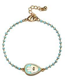 Capwell & Co. Beaded Hamsa Bracelet