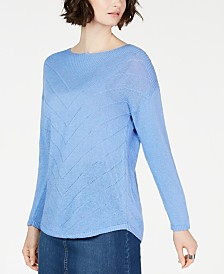 I.N.C. Pointelle Tunic Sweater, Created for Macy's
