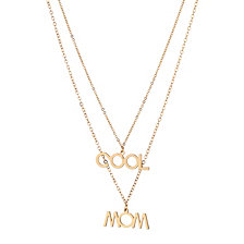 """ADORNIA """"COOL MOM"""" Layered Necklace"""