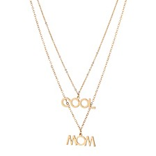 "ADORNIA ""COOL MOM"" Layered Necklace"