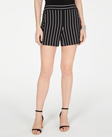 I.N.C. Striped Pull-On Shorts, Created for Macy's