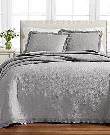 Martha Stewart Collection Crochet Queen Bedspread, Created for Macy's