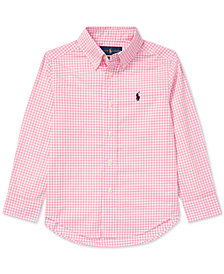Polo Ralph Lauren Toddler Boys Gingham Cotton Poplin Shirt