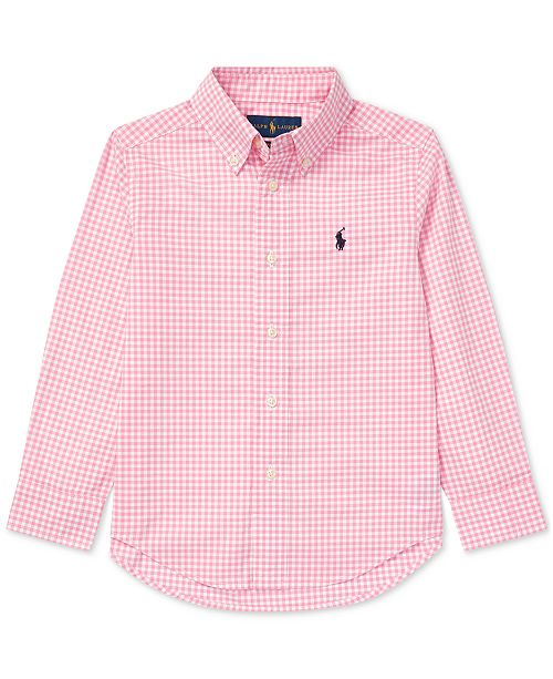 871d22b1 Polo Ralph Lauren Little Boys Gingham Cotton Poplin Shirt & Reviews ...