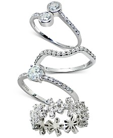 Giani Bernini Cubic Zirconia Romance Ring Collection in Sterling Silver, Created for Macy's