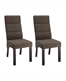 Tall Back Upholstered Dining Chairs, Set of 2