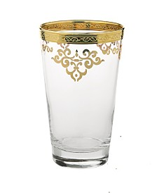 Classic Touch Set of  6 Tumblers with Design