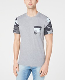 American Rag Men's Camo Trim Pocket T-Shirt, Created for Macy's