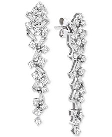 Diamond Scatter Drop Earrings (1 ct. t.w.) in 14k White Gold, Created for Macy's