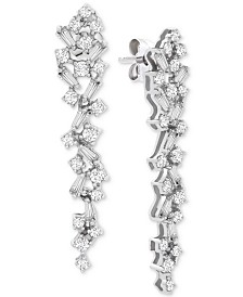 Wrapped in Love™ Diamond Scatter Drop Earrings (1 ct. t.w.) in 14k White Gold, Created for Macy's