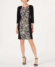 JM Collection Triple-Keyhole Sheath Dress, Created for Macy's