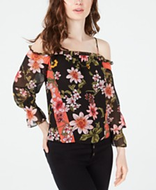 GUESS Savina Cold-Shoulder Top