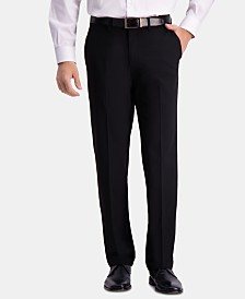 JM Haggar Men's Straight-Fit 4-Way Stretch Flat-Front Dress Pants