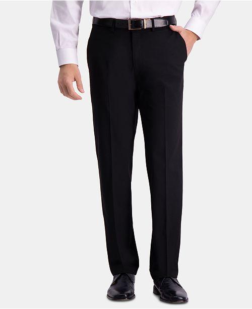 Haggar JM Men's Straight-Fit 4-Way Stretch Flat-Front Dress Pants