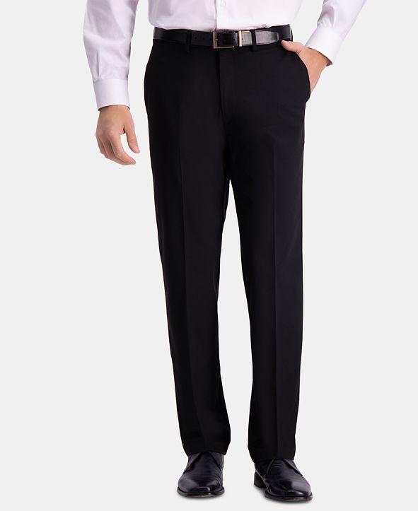 Haggar J.M. Men's Straight-Fit 4-Way Stretch Flat-Front Dress Pants