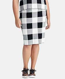 3a0e888614f RACHEL Rachel Roy Trendy Plus Size Checkered Sweater Skirt