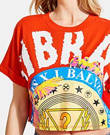 GUESS x J BALVIN Vibras Cotton Graphic Cropped T-Shirt