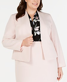 Nine West Plus Size Collarless Blazer