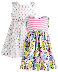 Blueberi Boulevard Baby Girls 2-Pk. Printed Dresses