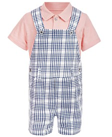 First Impressions Baby Boys 2-Pc. Polo Shirt & Shortall Set, Created for Macy's