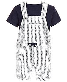 First Impressions Baby Boys 2-Pc. T-Shirt & Shibori Shortall Set, Created for Macy's