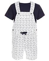 511715eb First Impressions Baby Boys 2-Pc. T-Shirt & Shibori Shortall Set,